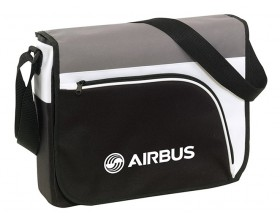 Messenger bag black and grey
