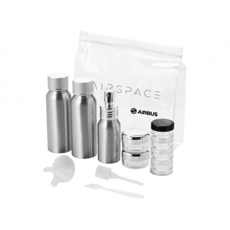 Airspace aluminium travel bottle set