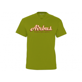 "V-neck Tee shirt Airbus """"Leading aircraft manufacturer"""