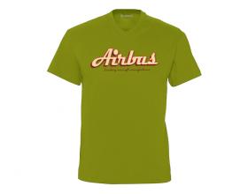 """Camiseta cuello pico Airbus """"Leading aircraft manufacturer"""""""