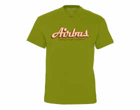 "Tee-shirt col V Airbus ""Leading aircraft manufacturer"""