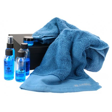 Travel toiletry set and bamboo towel