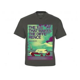 "T-Shirt V-Ausschnitt Vierfarbdruck A350 XWB ""The Xtra that makes the difference"""