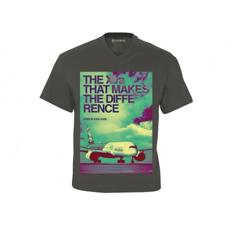 "Quadri colour A350 XWB Tee shirt "" The Xtra that makes the difference"""