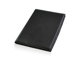 Leather conference pad with rotring pen