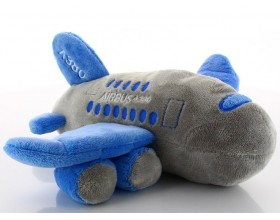 Airbus A380 plush plane blue grey Aircraft model
