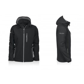 Men hooded softshell zipped Jacket - Airbus HELICOPTERS
