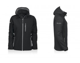 Women hooded softshell zipped Jacket