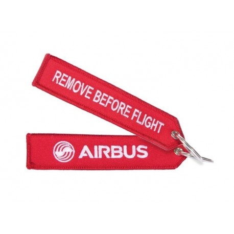 Red keyring remove before flight 130x30mm