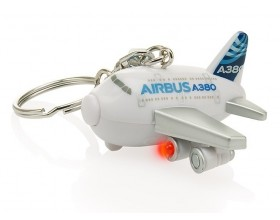 A380 key ring with light and sound