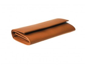 Airbus Brown leather travel wallet