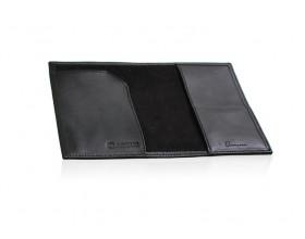 Airbus Black leather passport holder