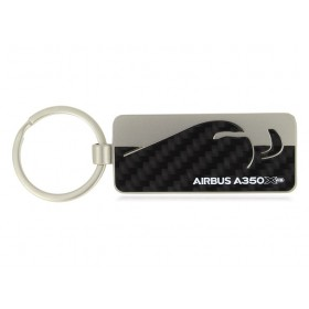 A350 XWB carbon fibre key ring