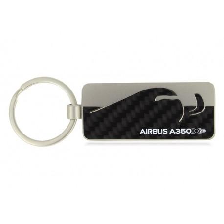 A350 XWB carbon fibre key ring