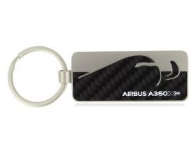 A350 XWB carbon fibre Schlüsselanhänger