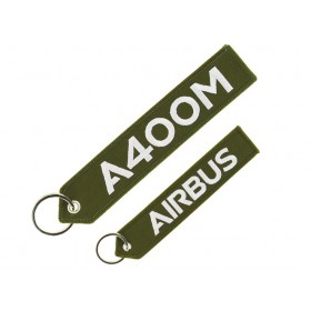 "Porte clés A400M ""remove before flight"""
