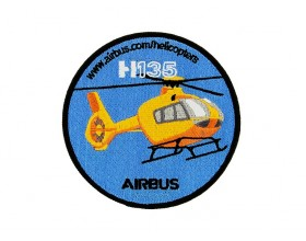 H135 embroidered patch