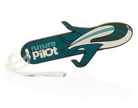 "Future Pilot luggage tag ""concept plane"" boy"