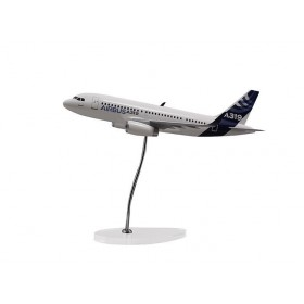 "Maquette ""executive"" A319 échelle 1:100 moteurs IAE sharklets"