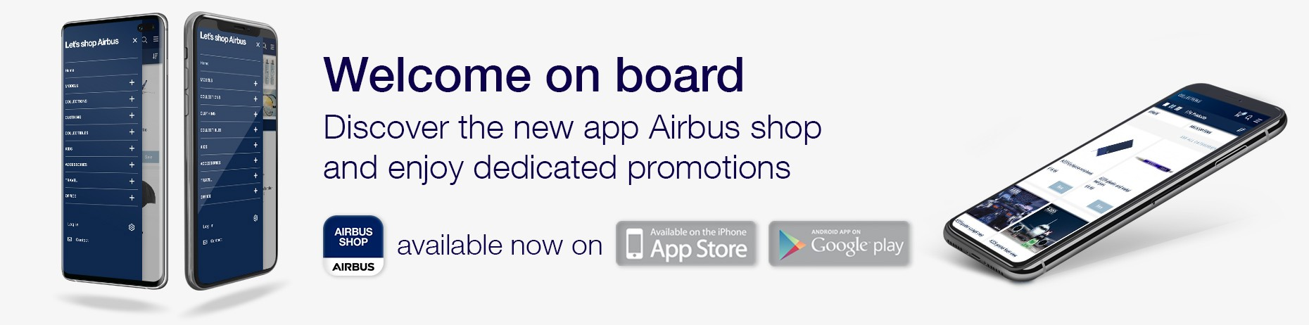 Mobile App. AIRBUS SHOP